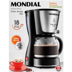 Cafeteira Eletrica Mondial Dolce Arome Inox 18 Xicaras Jarra Em Vidro 550w C-30-18x - 127v