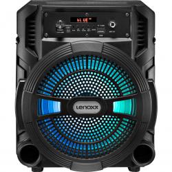 Caixa de Som Amplificada Lenoxx 120W RMS - Bluetooth - Rádio FM - USB CA80 Bivolt
