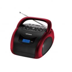 Rádio Portátil Boombox Lenoxx - FM - MP3 - Display Digital BD150 Preto/Vermelho Bivolt